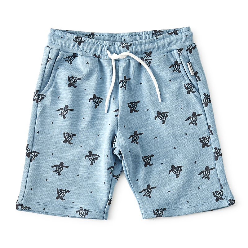 cde91b1188c super coole jongens shorts met turtle print - Little Label