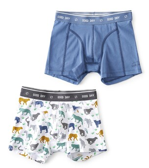boxers set leopard & faded blue Little Label
