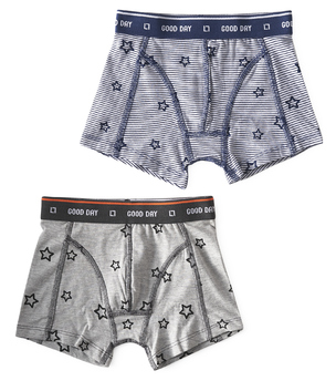 boxers almost black star & stars stripe blue Little Label