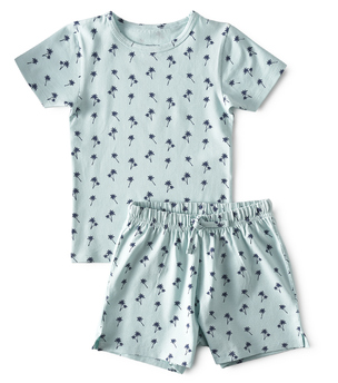 baby zomer pyjama - palm azur - Little Label