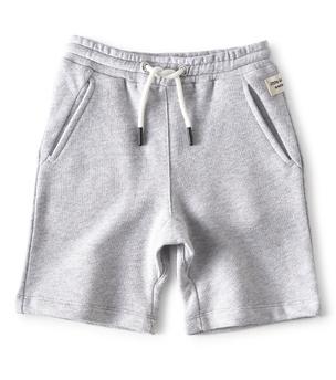 grey melange baby boy shorts - Little Label