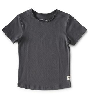 antraciet jongens shirt - Little Label