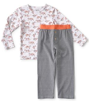 jongens pyjama tijger print Little Label