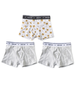 boxers shorts boys 3-piece white tiger combi Little Label