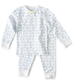 meisjes pyjama blauwe libellen-print Little Label