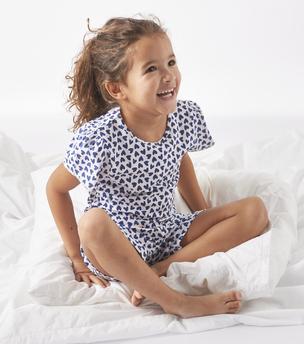 model korte pyjama hartjes print Little Label