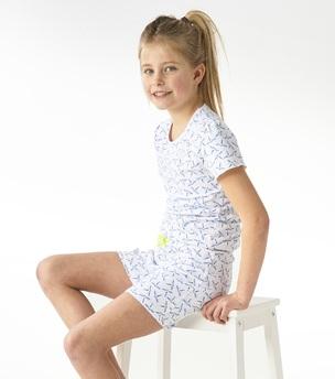 model foto korte pyjama met blauwe libellen print Little Label