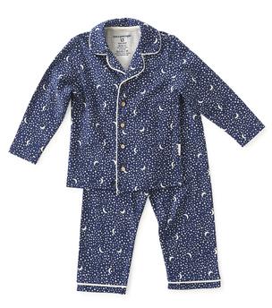 pyjamaset meisjes blauw maan en sterren print Little Label