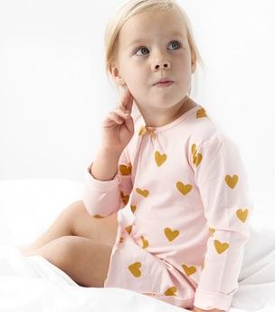 nachthemd meisjes hartjes print Little Label
