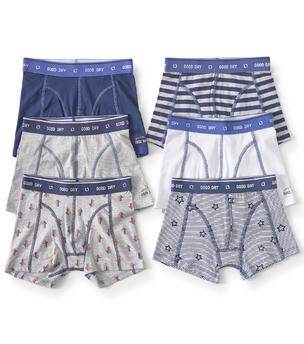 boxershorts 6-pack - wit blauw grijs Little Label