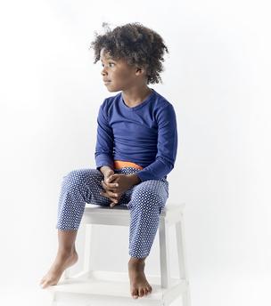 blauwe pyjama set jongens Little Label