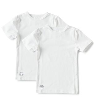 set jongens shirts korte mouw wit Little Label