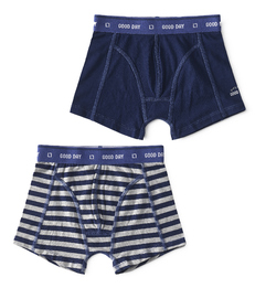 boxers uni dark blue & big blue stripe Little Label
