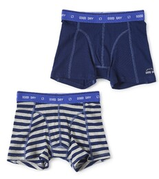 boxers set dark blue big stripe & dark blue Little Label