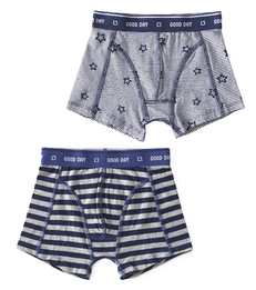 boxers big blue stripe & stars stripe blue Little Label