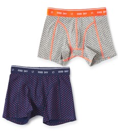 boxers set dark blue cross & grey melee cross Little Label