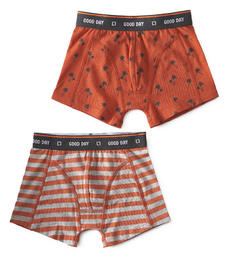 boxers palm orange & big orange stripe Little Label