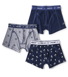 boxers shorts boys 3-piece blue Little Label