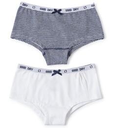 hipster set - small blue stripe & white Little Label