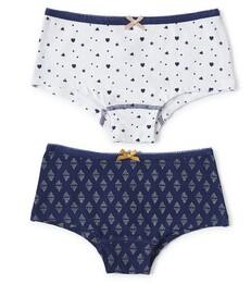 hipster set - dark blue triangle dot & white assorti Little Label