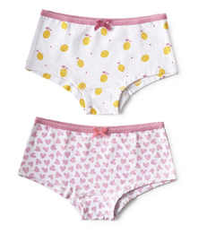 hipster set - lemons & hearts lilac pink Little Label