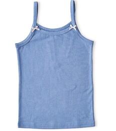 meisjes hemd faded blue Little Label