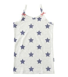 Meisjes hemd - blue striped stars - Little Label