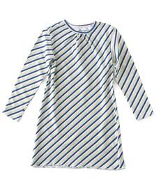 Meisjes nachthemd - striped multi color - Little Label