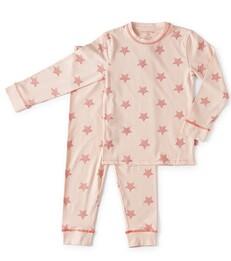 meisjes pyjama licht roze sterren print Little Label