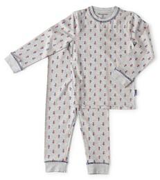 Jongens pyjama - grey melee arrow - Little Label