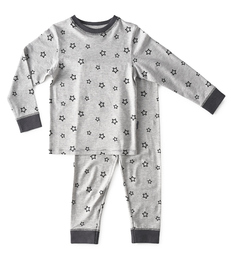 baby pyjama - star almost black - Little Label