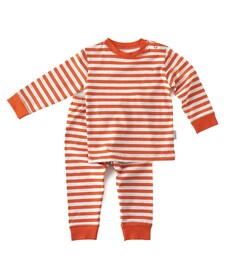 Pyjama set - orange red stripes - Little Label
