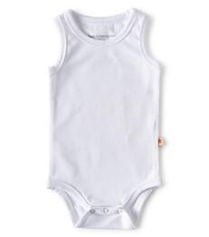 baby romper zonder mouw - wit - Little Label