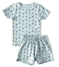 baby zomer pyjama - palm azur - Little Label