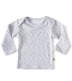 baby shirt lange mouw - wit met stippen - Little Label