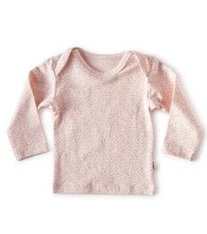 baby shirt lange mouw - roze stippen- Little Label