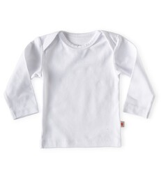 baby shirt lange mouw - wit - Little Label