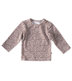 baby shirt lange mouw - copper leopard little Label