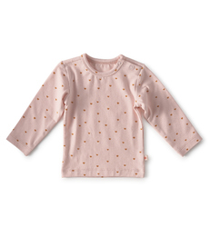 baby shirt lange mouw - light pink hearts little Label