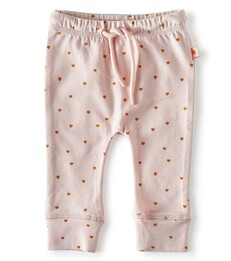 smal baby broekje - light pink hearts