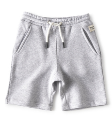 grey melange baby boy shorts - Little Label