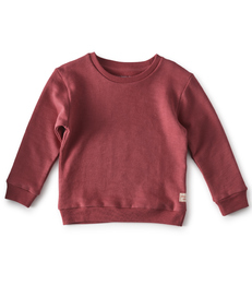 meisjes sweater darkrose  - Little Label