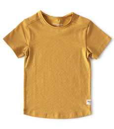 geel baby shirtje korte mouw - Little Label