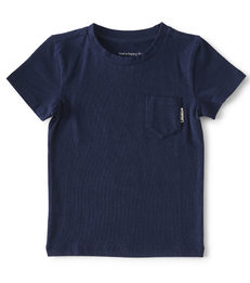 baby shirtje korte mouw- navy blue - Little Label