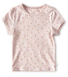 meisjes top meisjes - light pink hearts Little Label