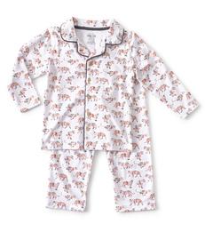 rode jongens grandad pyjama Little Label
