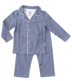 blauwe ruitjes grandad pyjama Little Label