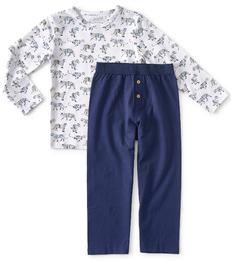 blauwe jongens pyjama tijger print Little Label