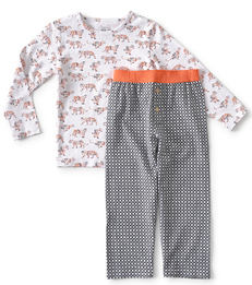 jongens pyjama tijger print Little Label