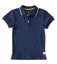 polo shirt jongens - blauw melee - Little Label